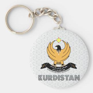 Kurdistan Coat of Arms Basic Round Button Keychain