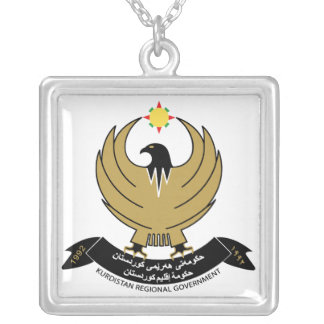Kurdistan Coat of Arms Silver Plated Necklace