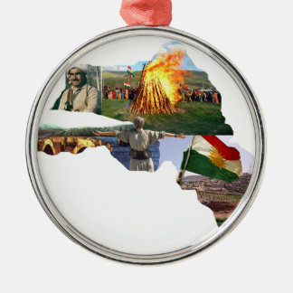 kurdistan culture metal ornament