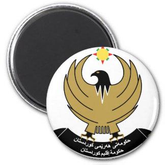 kurdistan emblem 2 inch round magnet