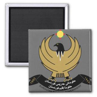 kurdistan emblem 2 inch square magnet