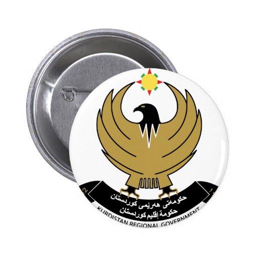 kurdistan emblem pinback buttons
