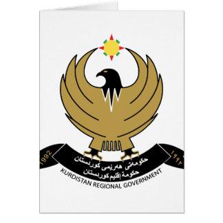 kurdistan emblem card