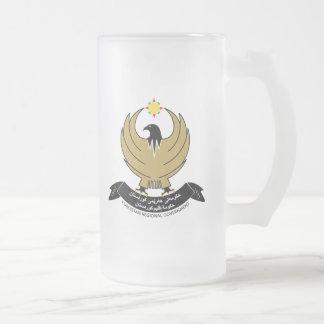 kurdistan emblem 16 oz frosted glass beer mug