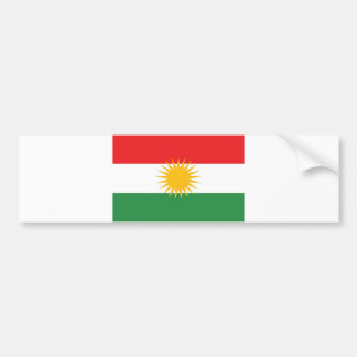 Kurdistan ethnic flag bumper sticker