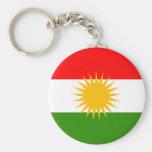 Kurdistan Flag Basic Round Button Keychain
