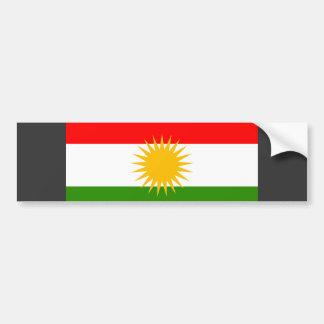 Kurdistan Flag Bumper Sticker