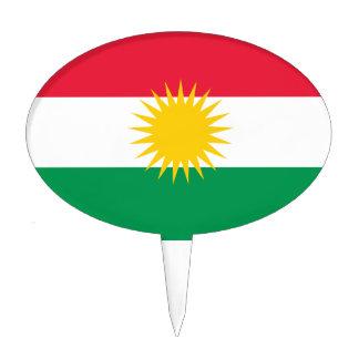 Kurdistan Flag Cake Topper