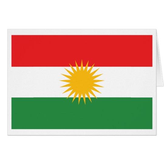 Kurdistan Flag Card