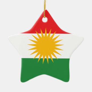 Kurdistan Flag Ceramic Ornament