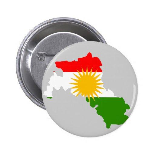 Kurdistan flag map button