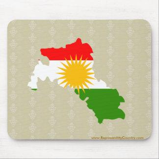 Kurdistan Flag Map full size Mouse Pad