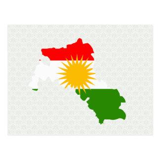 Kurdistan Flag Map full size Postcard