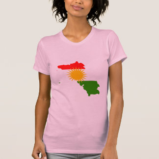 Kurdistan flag map t shirts