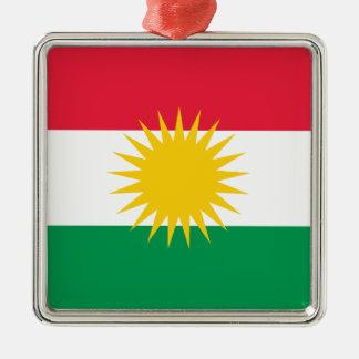 Kurdistan Flag Metal Ornament