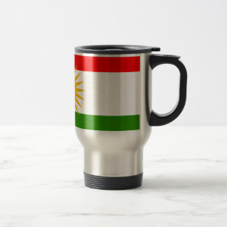Kurdistan Flag 15 Oz Stainless Steel Travel Mug