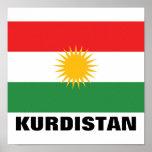 Kurdistan Flag Poster