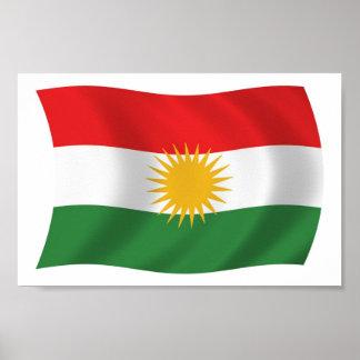 Kurdistan Flag Poster Print