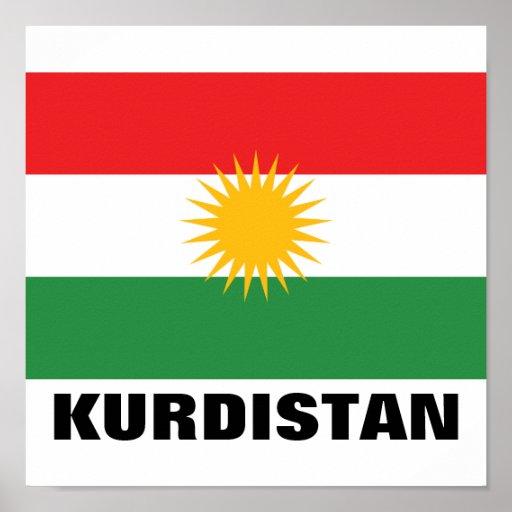 Kurdistan Flag Print