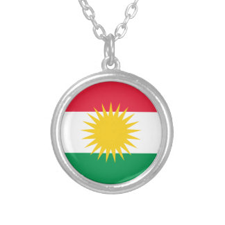 Kurdistan Flag Silver Plated Necklace