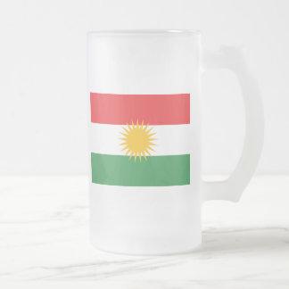 kurdistan frosted glass beer mug