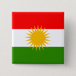 Kurdistan High quality Flag Pinback Button