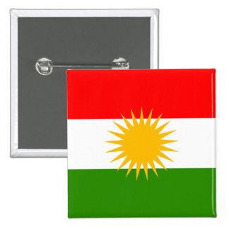 Kurdistan High quality Flag Pinback Button