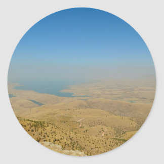 Kurdistan, Lake  Dukan Classic Round Sticker