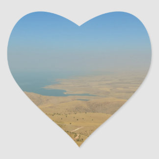 Kurdistan, Lake  Dukan Heart Sticker