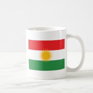 kurdistan classic white coffee mug