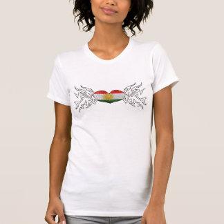 Kurdistan playera Glitter Heart Camisetas