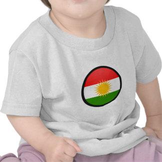 Kurdistan quality Flag Circle Tshirts