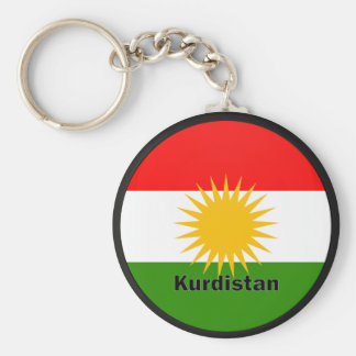 Kurdistan Roundel quality Flag Basic Round Button Keychain