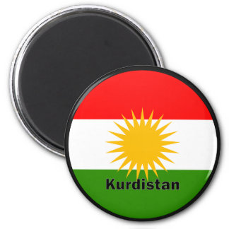 Kurdistan Roundel quality Flag Magnet