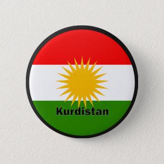 Kurdistan Roundel quality Flag Pinback Button
