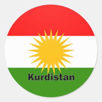 Kurdistan Roundel quality Flag Round Stickers