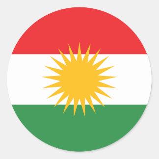 kurdistan classic round sticker