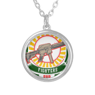 KURDISTAN - YPG - YPJ Freedom Warrior Silver Plated Necklace