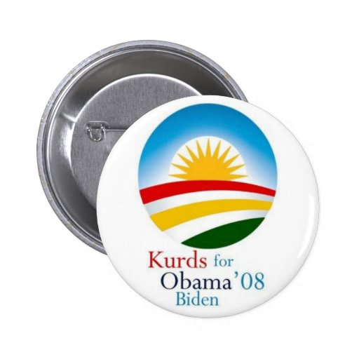 Kurds for Obama Pinback Buttons