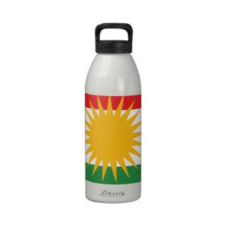 Kurds have No Friends But Mountains FREE KURDISTAN Water Bottle