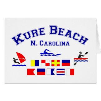 Kure Beach NC Signal Flags Card