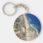 Kure Beach North Carolina Basic Round Button Keychain