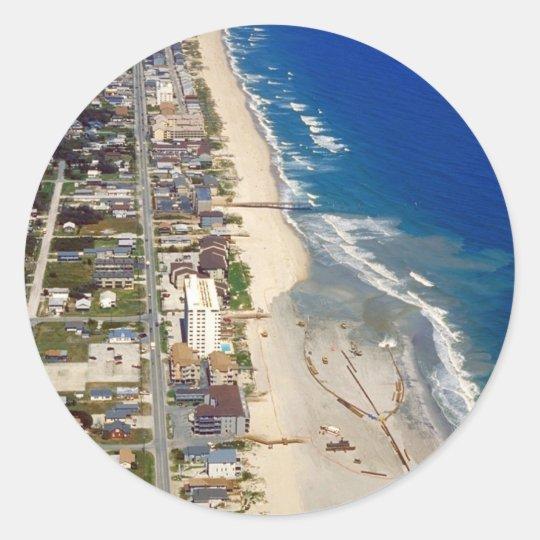 Kure Beach North Carolina Classic Round Sticker