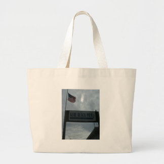 Kure Pier Entrance Sign Large Tote Bag