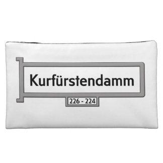 Kurfürstendamm, Berlin Street Sign Makeup Bag