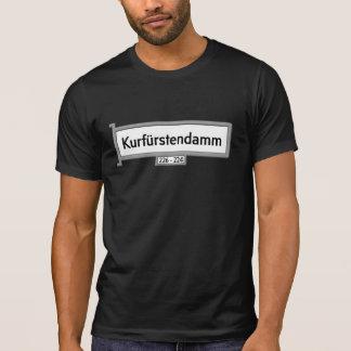 Kurfürstendamm, placa de calle de Berlín Camiseta