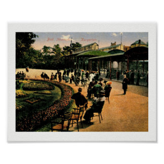 Kurgarten, Bad Nuenahr, Germany, Vintage Poster