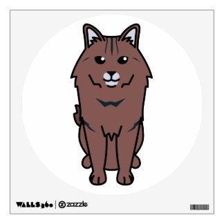 Kurilian Bobtail Cat Cartoon Wall Sticker