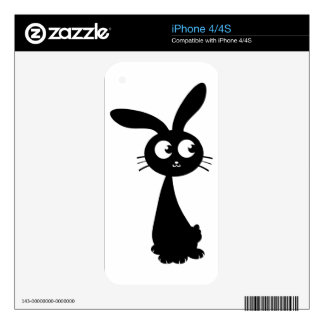 Kuro Bunny II Decal For iPhone 4