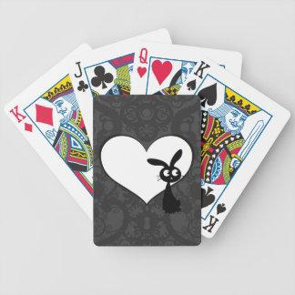 Kuro Bunny Love I Bicycle Playing Cards